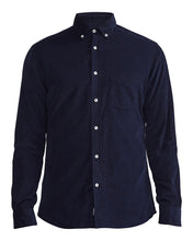 Holebrook Sweden Sam Mens Cotton Cord Shirt Navy