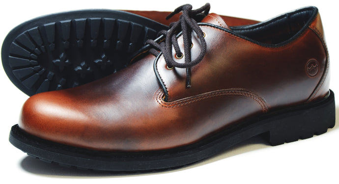 Orca Bay Malvern Mens Polished Leather Country Shoes Elk