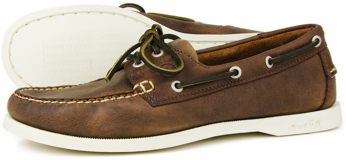 Orca Bay Maine Mens Nubuck Leather Deck Shoes Russet