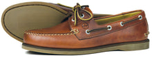 Orca Bay Newport Mens Polished Leather Deck Shoes Saddle