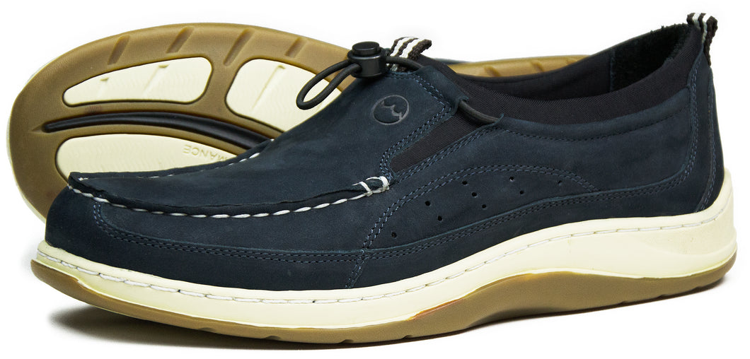 Orca Bay Orwell Mens Nubuck Leather Deck Shoes Navy