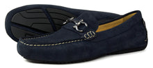 Orca Bay Roma Mens Suede Loafer Shoes Navy