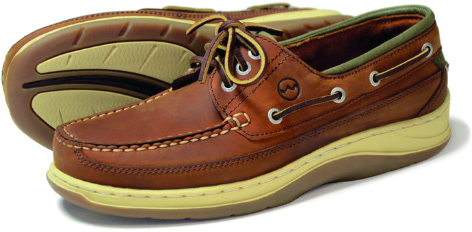 Orca Bay Squamish Mens Nubuck Leather Deck Shoes Sand