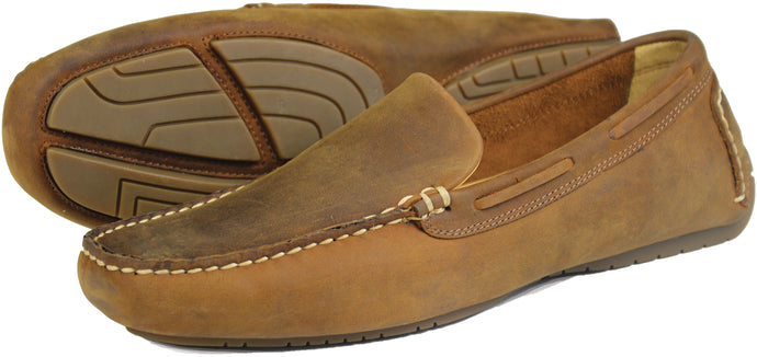 Orca Bay Silverstone Mens Nubuck Leather Loafer Shoes Sand