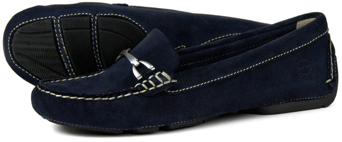 Orca Bay Sorrento Ladies Suede Loafer Shoes Navy