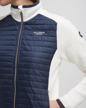 Holebrook Sweden Mimmi Ladies Windproof Cotton Jacket White Navy logo