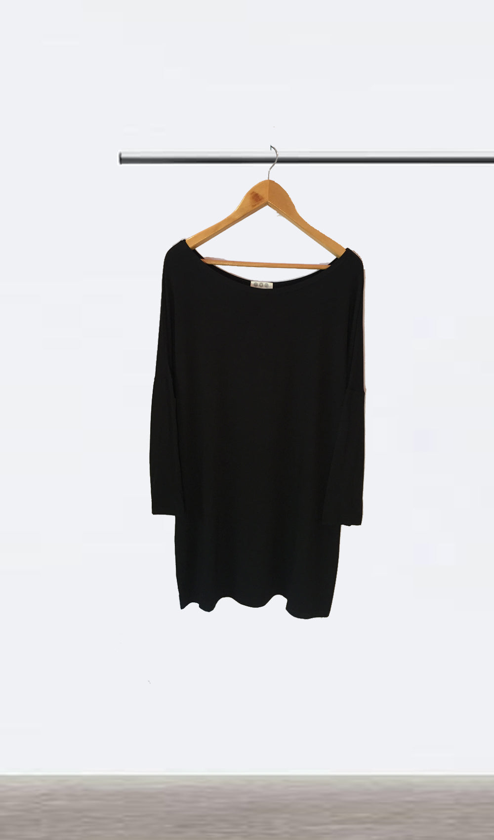 Ellipsis - The Black Boatneck Dress