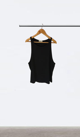 Ellipsis - The Black Dropped Armhole Vest