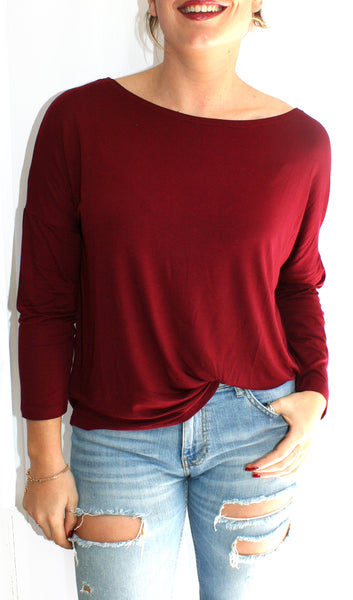 Ellipsis - The Burgundy Boatneck Top