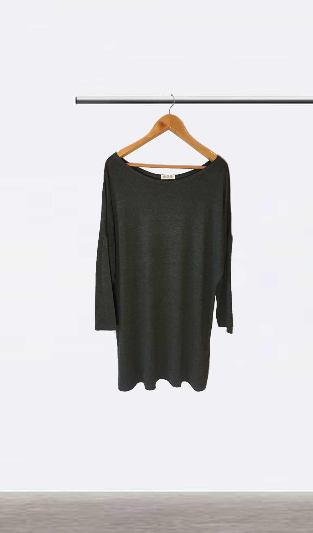 Ellipsis - The Charcoal Boatneck Dress