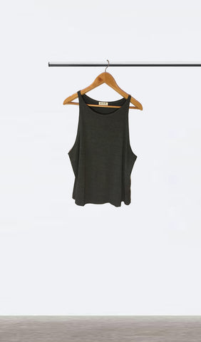 Ellipsis - The Charcoal Dropped Armhole Vest