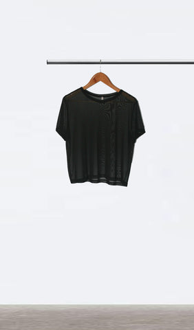 Ellipsis - The Black Mesh Tee