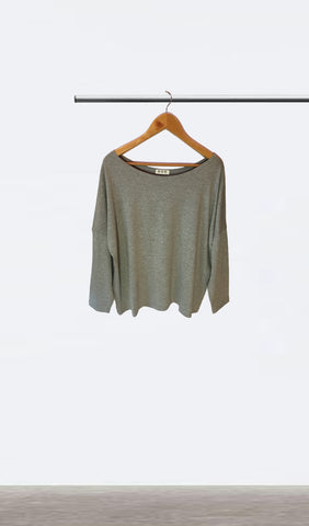 Ellipsis - The Grey Boatneck Top