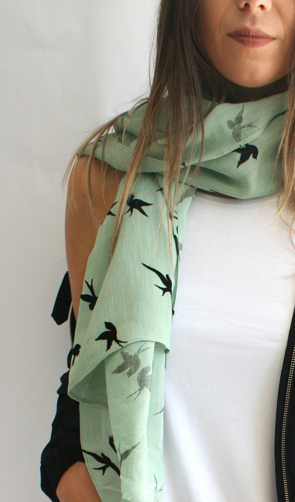 Ellipsis - The Sage Bird Scarf