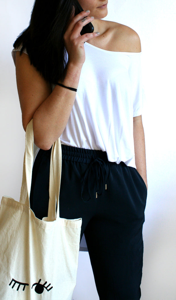 Ellipsis - The Canvas Winking Tote Bag