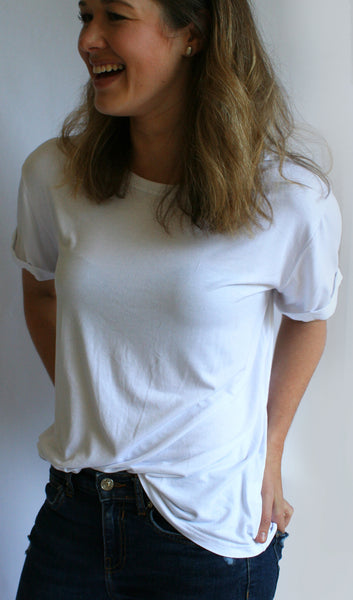 Ellipsis - The White Basic Tee
