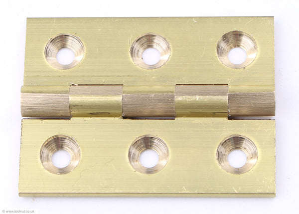 Broad Butt Hinges (Pair) - Brass