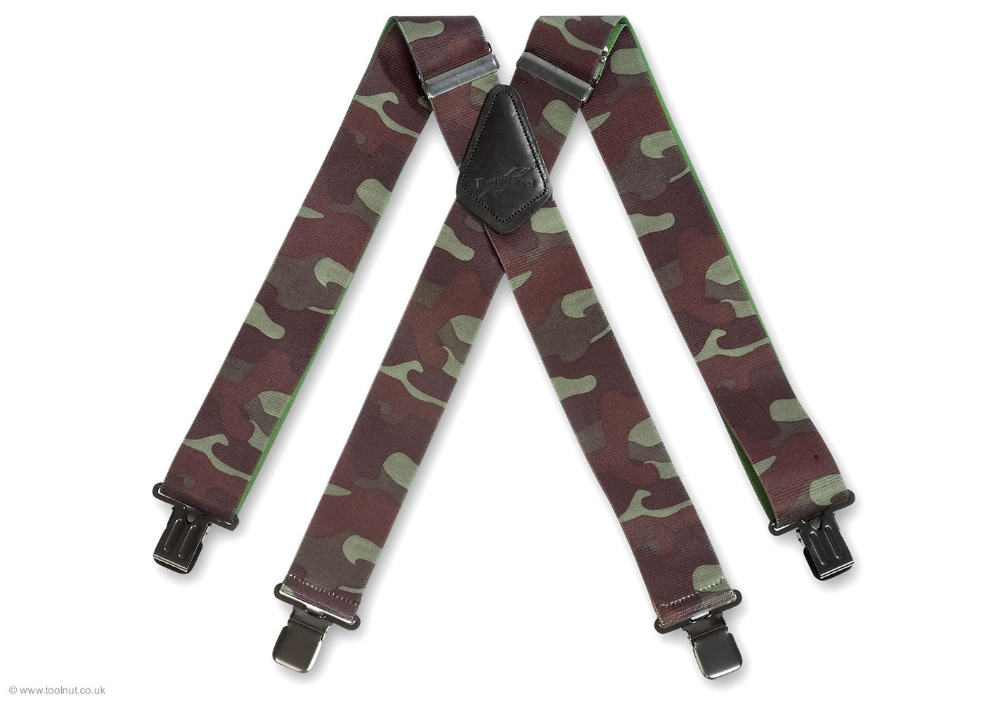 camouflage army trouser braces
