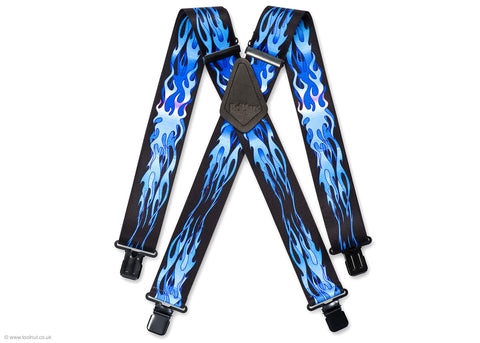blue flame trouser braces