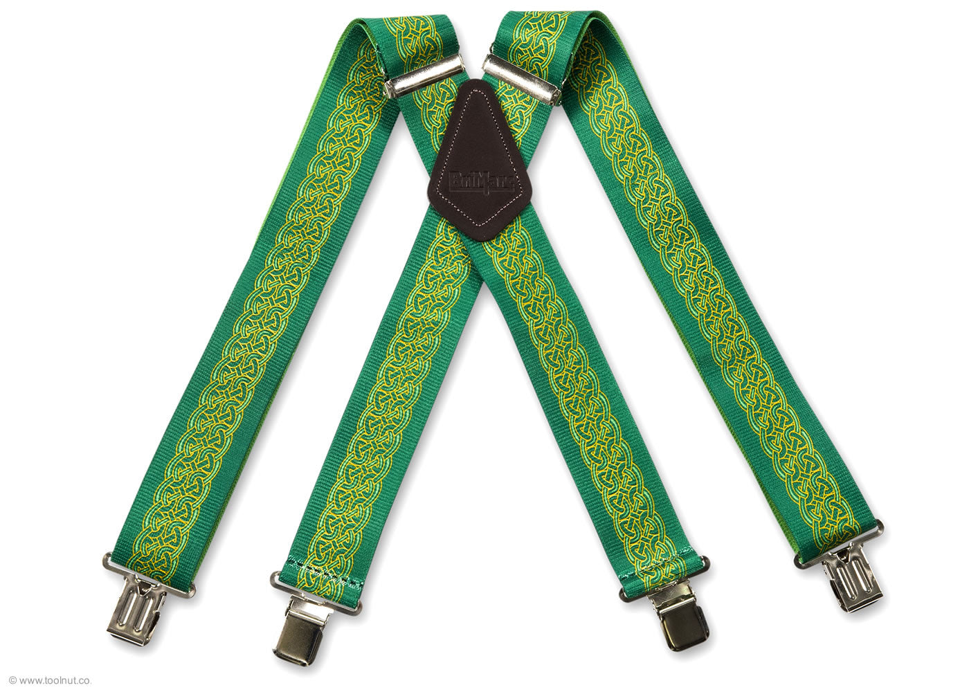 celtic green trouser braces