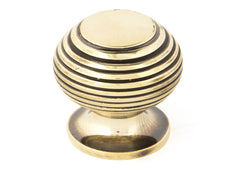 Aged Brass Beehive Cabinet Knob 30mm