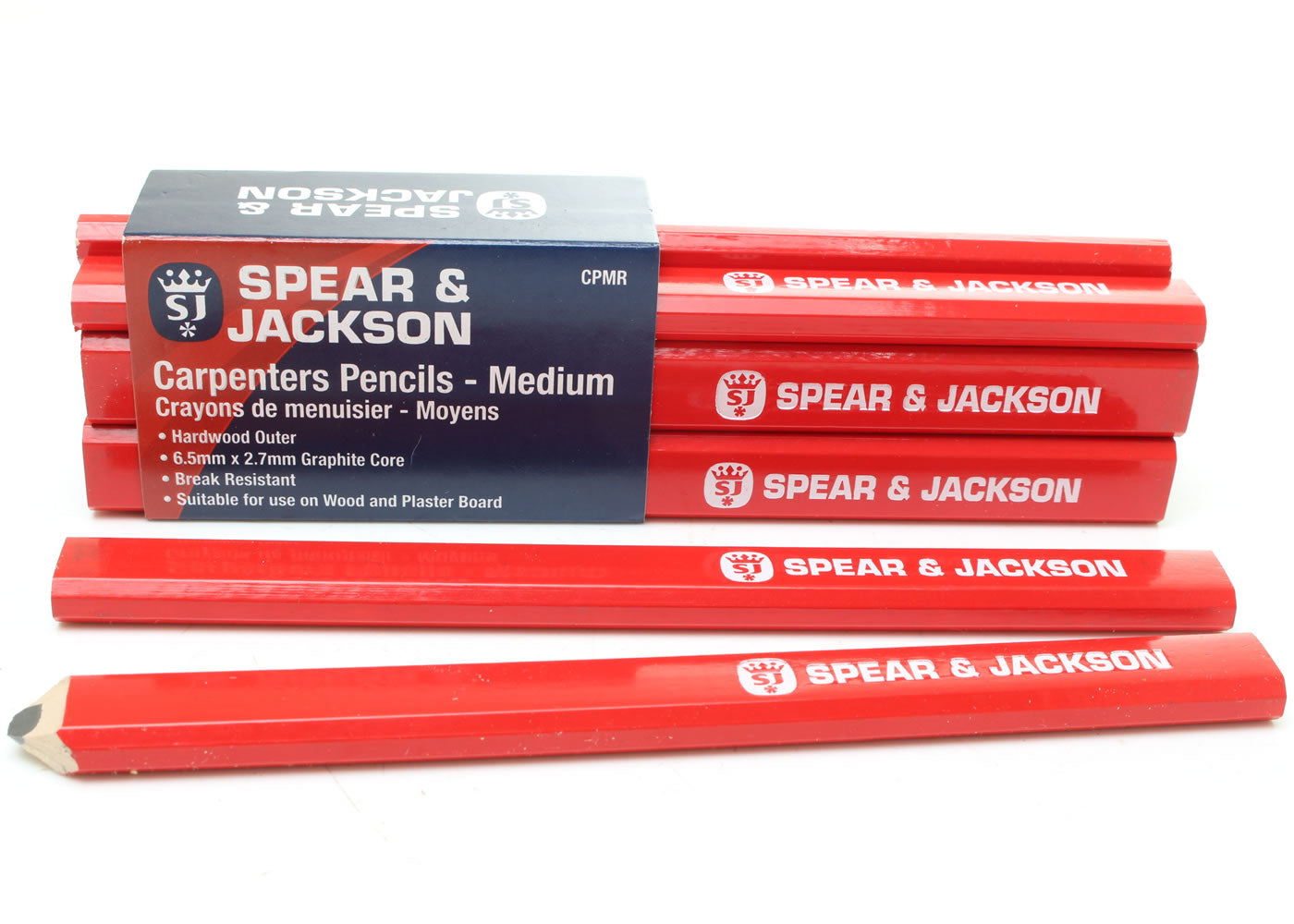Spear and Jackson Carpenters Pencils - Medium - 12 Pack