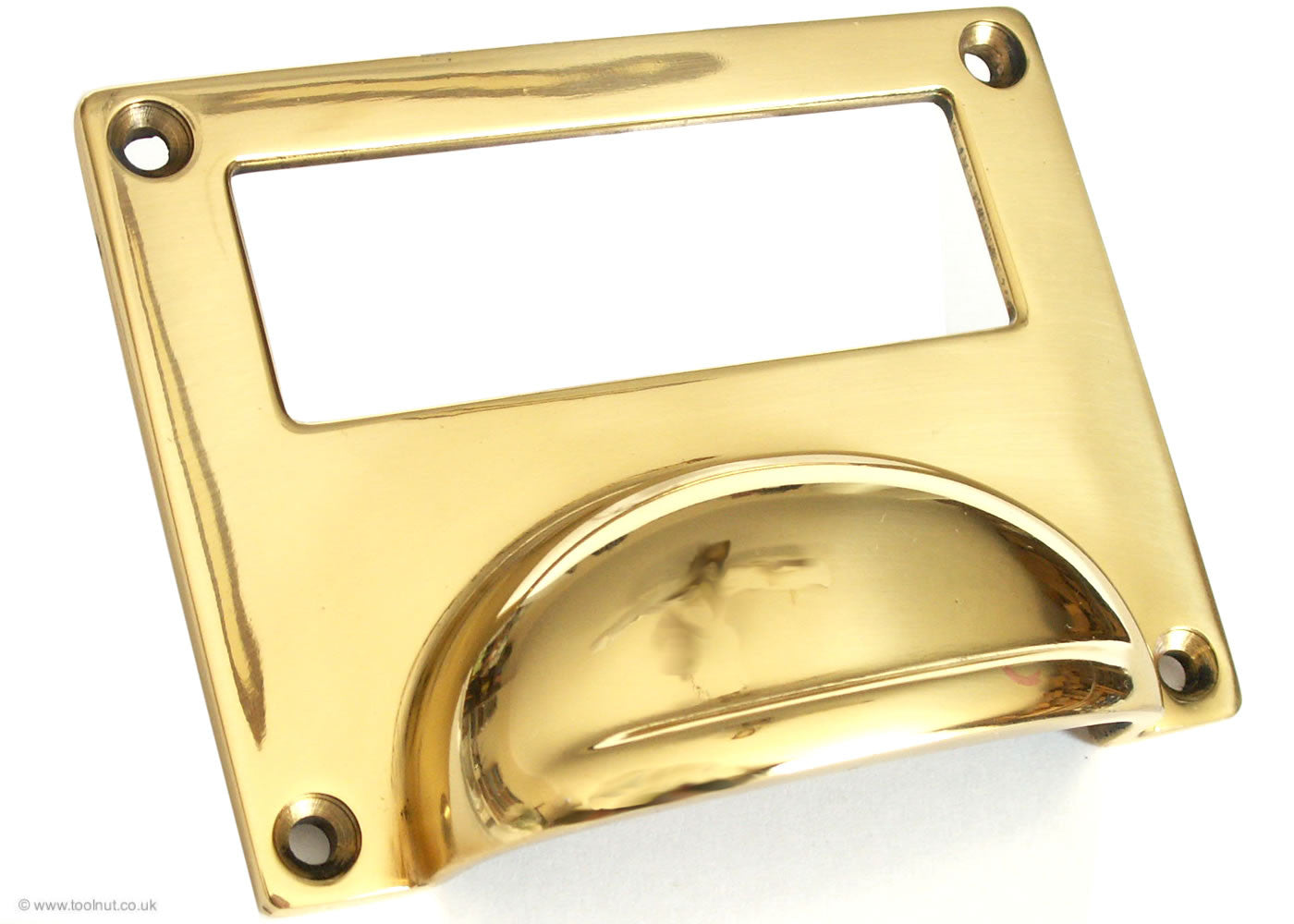 Brass Card Frame - Drawer Pull