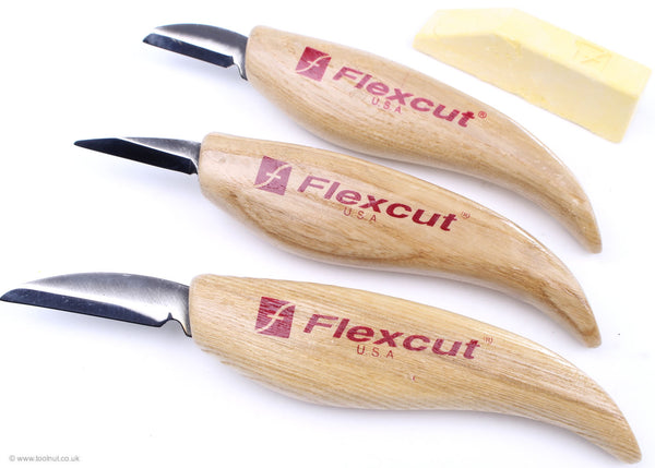 Flexcut Carving Knife Starter Set - 3 Piece