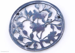 Pewter Lid - Flowers