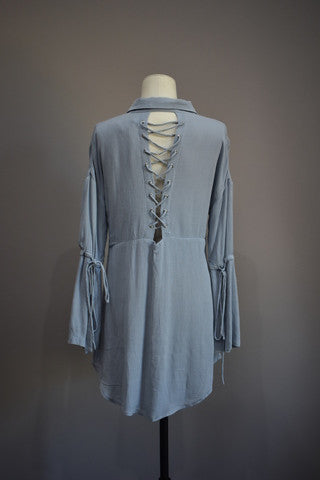 Seven Wonders long sleeve dress dove
