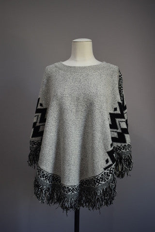 Winter Aztec Poncho