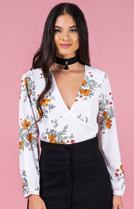 Autumn Split Sleeve Crop (white)