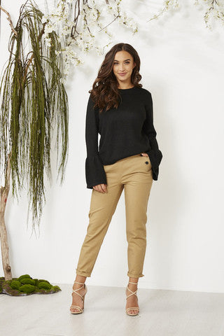 Black bell sleeved jumper knit