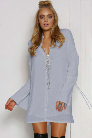 Stay Shirt Dress
