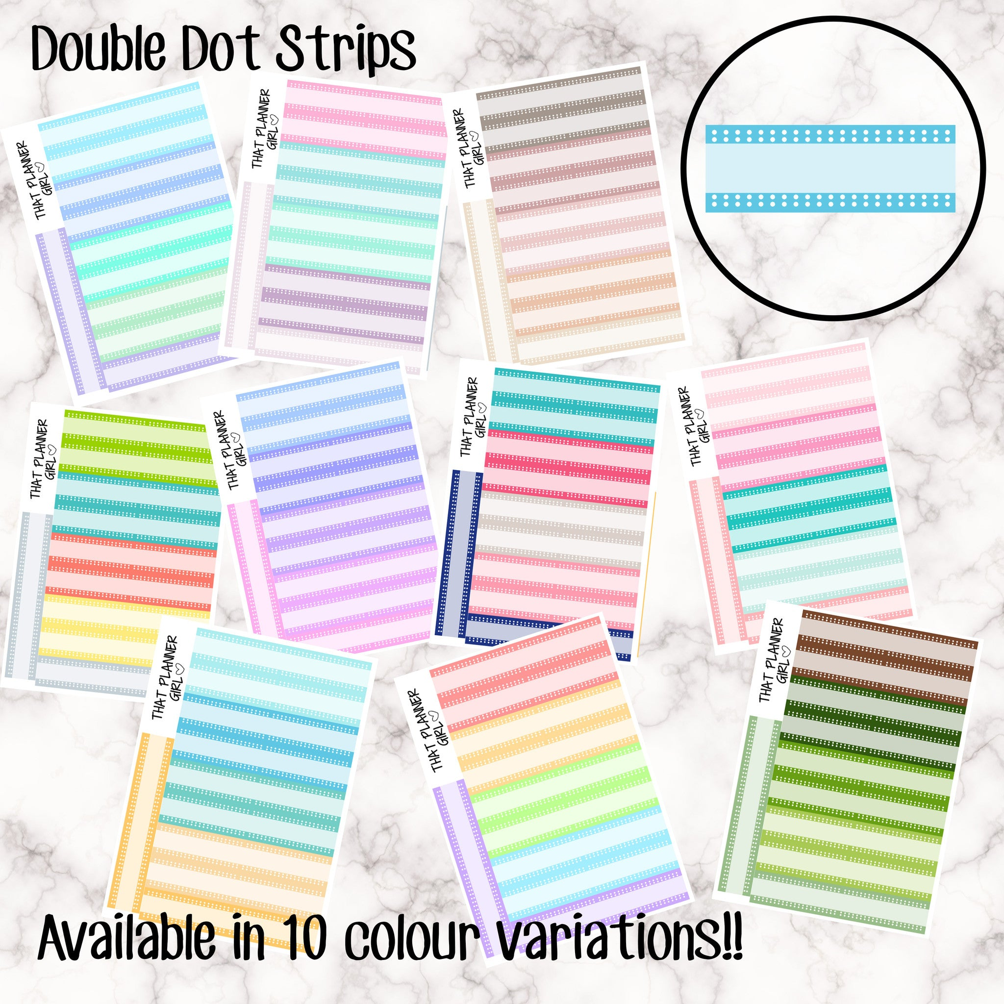 Double Dots Label Stickers