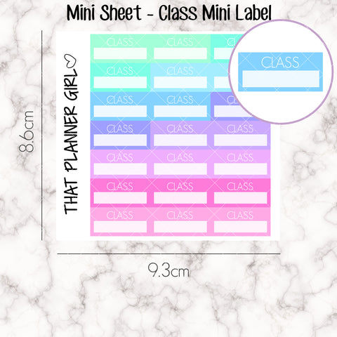 MINI SHEET MONDAY - Mini CLASS Label Strip