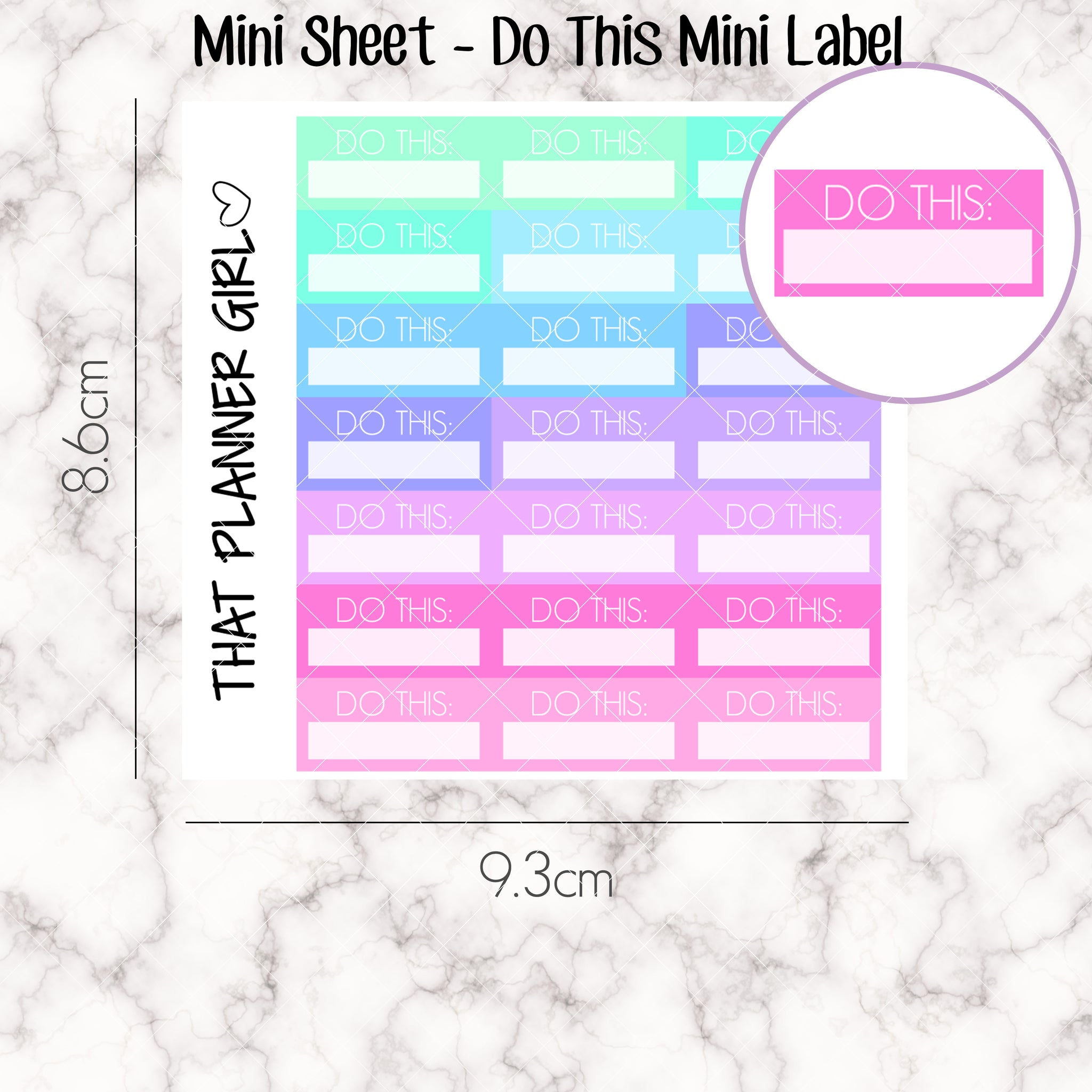 MINI SHEET MONDAY - Mini DO THIS Label Strip