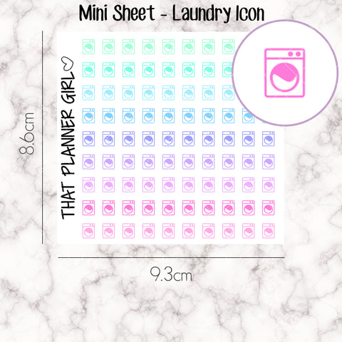 MINI SHEET MONDAY - Mini Doodle Icon - LAUNDRY