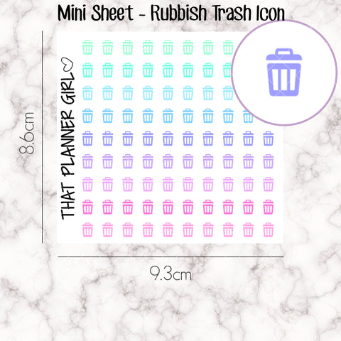 MINI SHEET MONDAY - Mini Doodle Icon - TRASH / RUBBISH