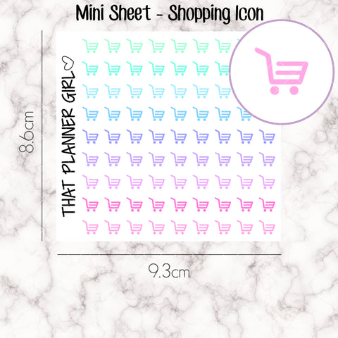 MINI SHEET MONDAY - Mini Doodle Icon - SHOPPING