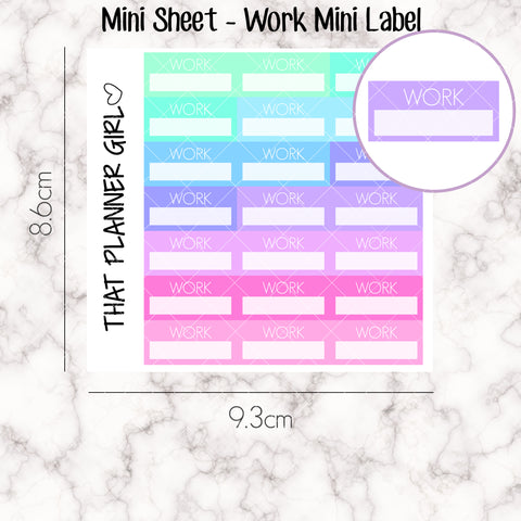 MINI SHEET MONDAY - Mini Work Label Strip