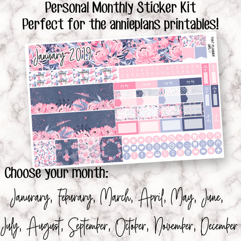 Winter Floral - PERSONAL MONTHLY KIT