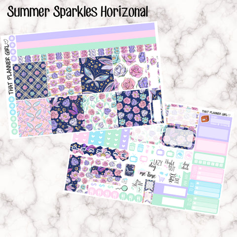 Summer Sparkle- HORIZONTAL kit stickers