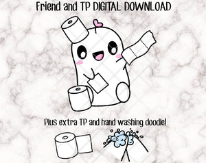 DIGITAL DOWNLOAD - Friend Loves Toilet Paper
