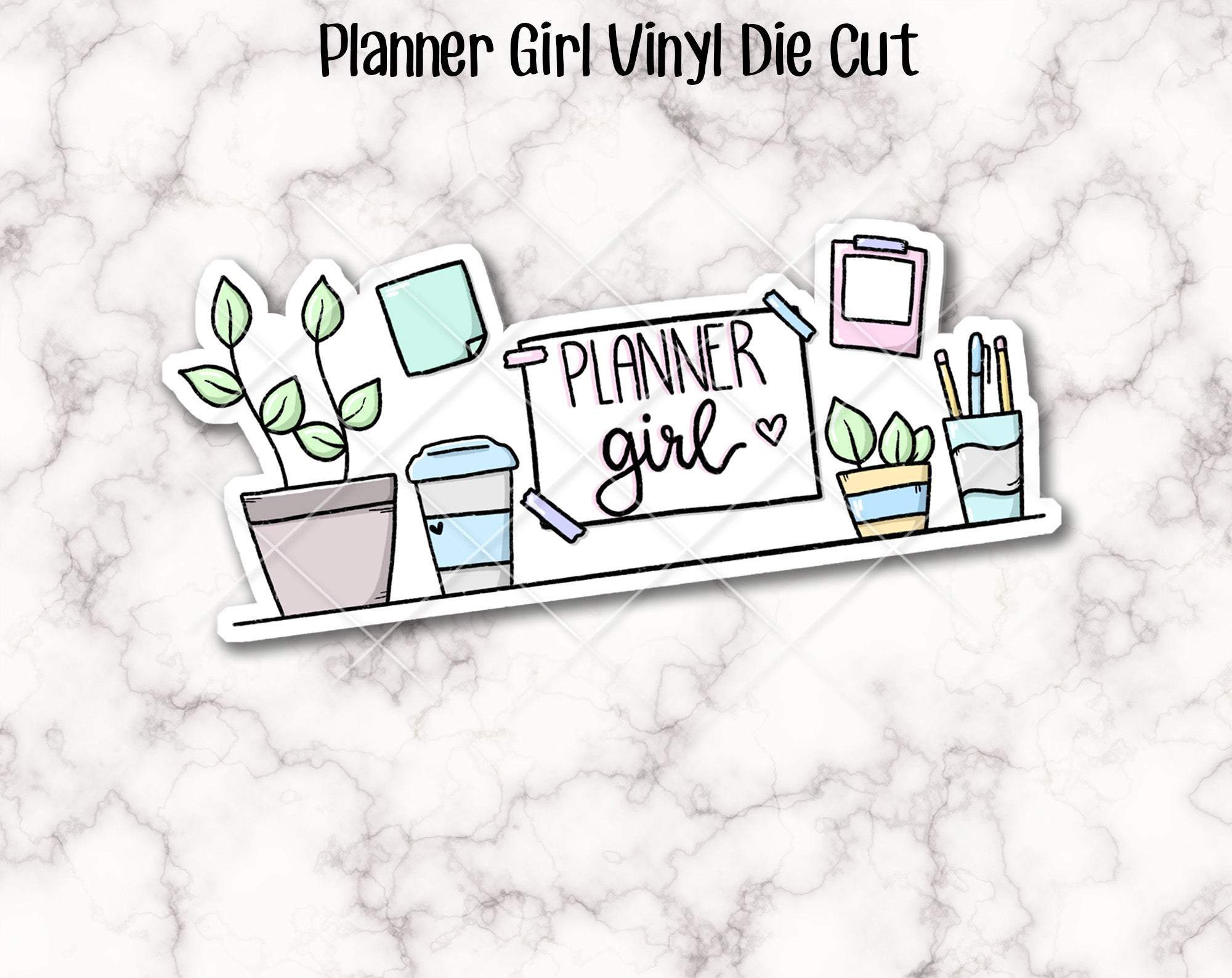 VINYL DIE CUT -  Planner Girl Vinyl Die Cut - perfect accessory for your planner, travellers notebook, bookmark, laptop, water bottle etc