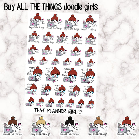 Buy All The Things Doodle Girl