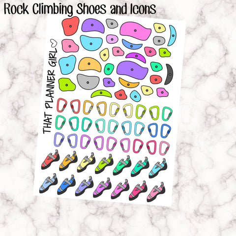 Climbing Shoes / Rock Climbing Icons