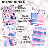 Floral Balloons Mini Kit - Sheets available individually or as a full kit!!