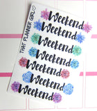 Succulent Weekend Banner Stickers - Beautiful succulent Cactus Banners - Perfect for the Erin Condren EC vertical planner - decorative :)