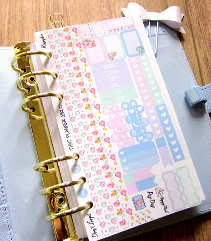 Watercolour Unicorn PERSONAL SIZE sticker kit - Mini Stickers to fit a Personal Size Kikki K or Kate Spade Planner - Pretty and Functional